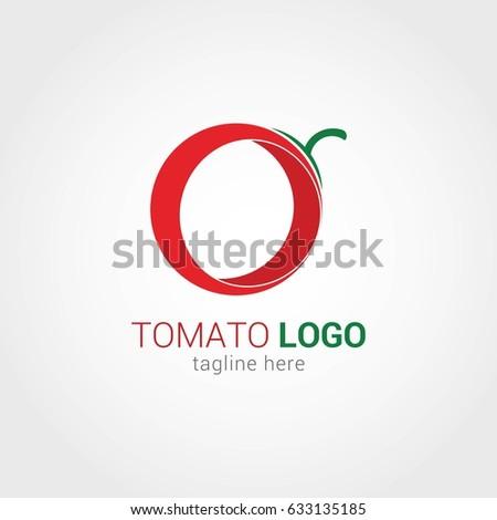 tomato logo design template vector illustration stock vector