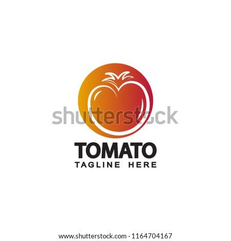 tomato logo template design stock vector royalty free 1164704167