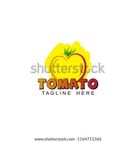 tomato logo template design stock vector royalty free 1164715366
