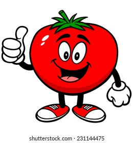 Tomato with Thumbs Up