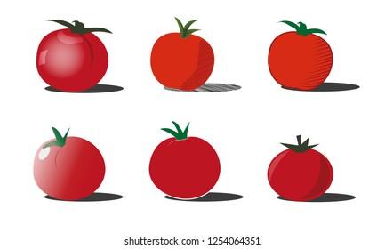 Tomato / Tomatoes compilation on white background
