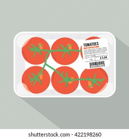 Tomatoes Pack Vector Illustration