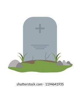 Tombstone cemetery isolated