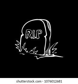 tombstone doodle icon vector