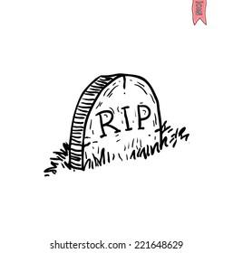Tombstone halloween icon. vector illustration.