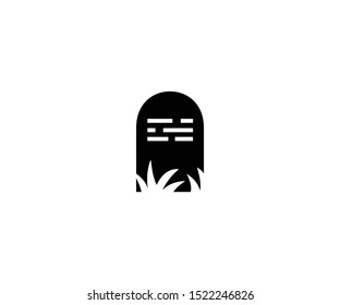 Tombstone isolated vector icon. Tombstone vector illustration