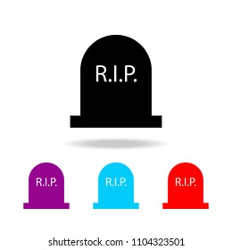 Tombstone vector icon. Elements of death in multi colored icons. Premium quality graphic design icon. Simple icon for websites, web design, mobile app, info graphics on white background