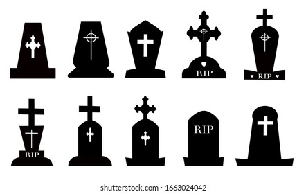 Tombstone vector icon isolated on white background, vector icon for mobile and computer graphic design