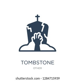 tombstone zombie hand icon vector on white background, tombstone zombie hand trendy filled icons from Other collection, tombstone zombie hand vector illustration