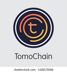 TOMO - Tomochain. The Icon or Emblem of Crypto Currency, Market Emblem, ICOs Coins and Tokens Icon.