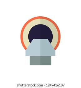 tomograph flat vector icon
