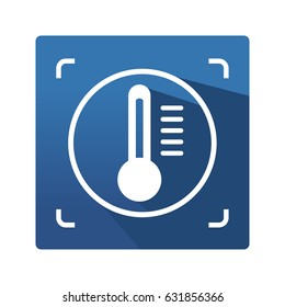 Tomography control method of nondestructive testing. Icon. Industrial symbol in flat style on blue background. Tomography control pictogram for your web site design, logo, app. Vector illustration