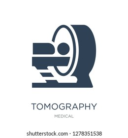 tomography icon vector on white background, tomography trendy filled icons from Medical collection, tomography vector illustration