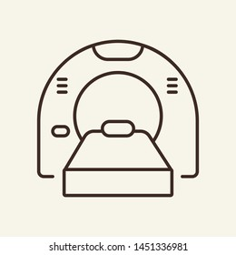 Tomography line icon. Medical scanner, machine, radiation. Medicine concept. Vector illustration can be used for topics like diagnosis, radiology, magnetic resonance therapy