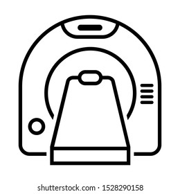 Tomography vector icon. Medical scanner illustration symbol. radiology sign. tomograph logo.