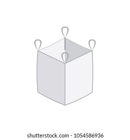 Ton bag with four corner icon. Vector image isolated on white background
