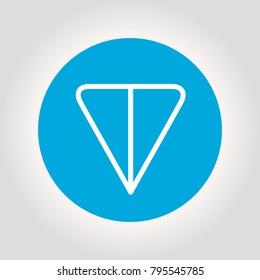 TON logo. Cryptocurrency of telegram open network. Vector illustration.
