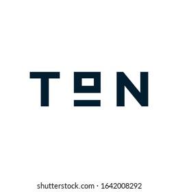 Ton vector emblem. 1 ton logo
