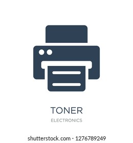 toner icon vector on white background, toner trendy filled icons from Electronics collection, toner vector illustration