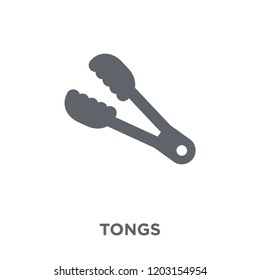 tongs icon. tongs design concept from Kitchen collection. Simple element vector illustration on white background.