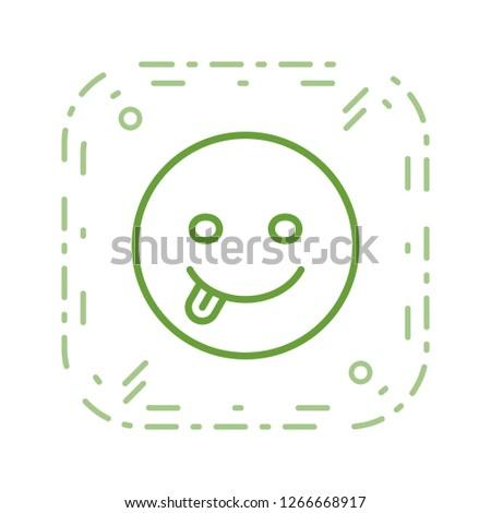 Tongue Emoji Vector Icon Sign Icon Stock Vector (Royalty