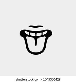 Tongue icon. Vector tongue illustration