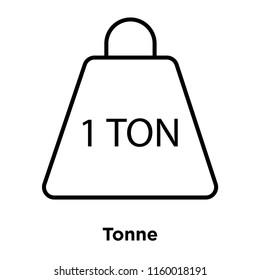 Tonne icon vector isolated on white background, Tonne transparent sign , sign and symbols in thin linear outline style