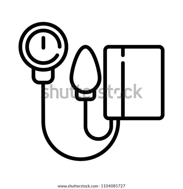 Tonometer Icon. Blood Pressure Checker Icon