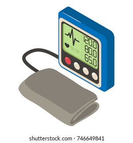 Tonometer icon. Isometric illustration of tonometer vector icon for web