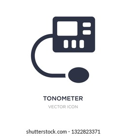 tonometer icon on white background. Simple element illustration from Health and medical concept. tonometer sign icon symbol design.