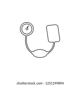 tonometer icon. Simple outline vector of Medicine  set for UI and UX, website or mobile application