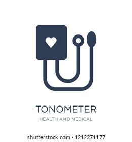 Tonometer icon. Trendy flat vector Tonometer icon on white background from Health and Medical collection, vector illustration can be use for web and mobile, eps10