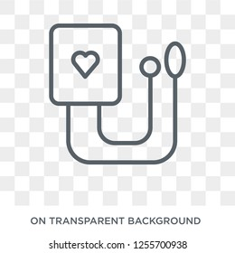 Tonometer icon. Trendy flat vector Tonometer icon on transparent background from Health and Medical collection. High quality filled Tonometer symbol use for web and mobile