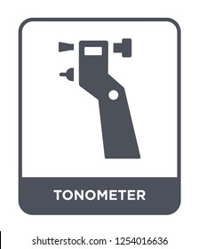 tonometer icon vector on white background, tonometer trendy filled icons from Health and medical collection