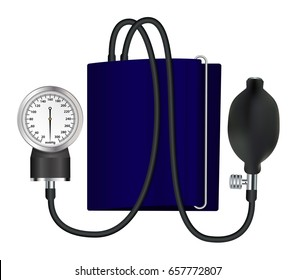 Tonometer  medical device for measuring blood pressure. Isolated object. Vector illustration.