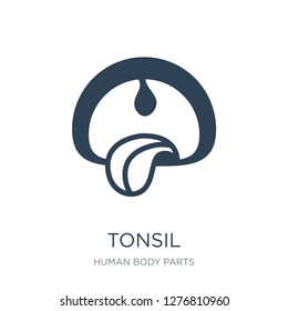 tonsil icon vector on white background, tonsil trendy filled icons from Human body parts collection, tonsil vector illustration