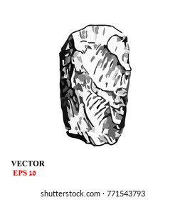 tool of ancient man in the Paleolithic. Paleolithic Flint