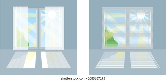 Tool to block the heat of the sun entering through the window