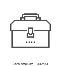 Tool box icon suitable for info graphics, websites and print media and  interfaces. Line vector icon.