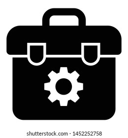 Tool box, toolkit glyph icon