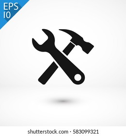 Tool  icon. One of set web icons