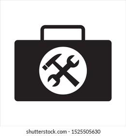 tool kit icon symbol black silhouette