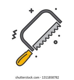 Tool saw line icon on white background for graphic and web design, Modern simple vector sign. Internet concept. Trendy symbol for website design web button or mobile app