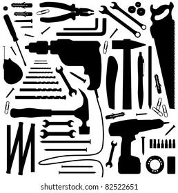 tool - silhouette illustration