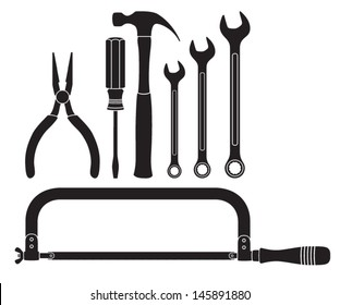 Tool Silhouettes Vector