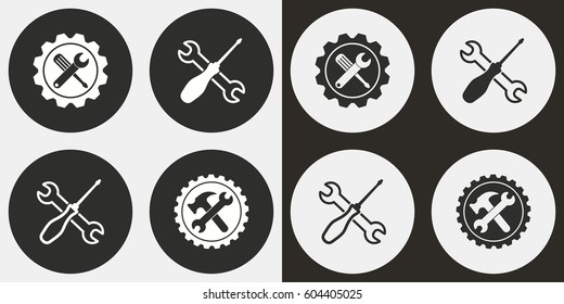Tool vector icons set. Illustration isolated for graphic and web design.