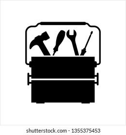 Toolbox Icon, Tool Box Icon Vector Art Illustration
