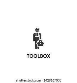 toolbox icon vector. toolbox vector graphic illustration