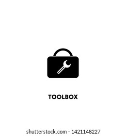 toolbox icon vector. toolbox sign on white background. toolbox icon for web and app