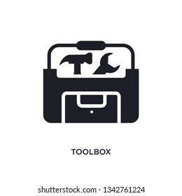 toolbox isolated icon. simple element illustration from electrian connections concept icons.